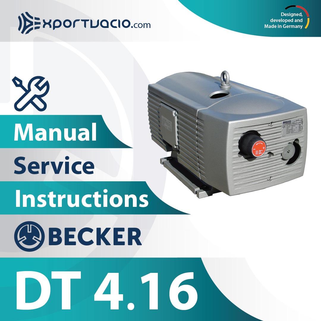 Becker DT 4.16 Manual