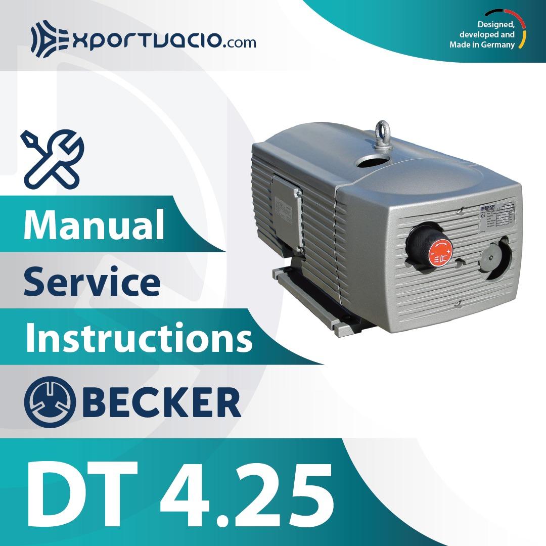 Becker DT 4.25 Manual