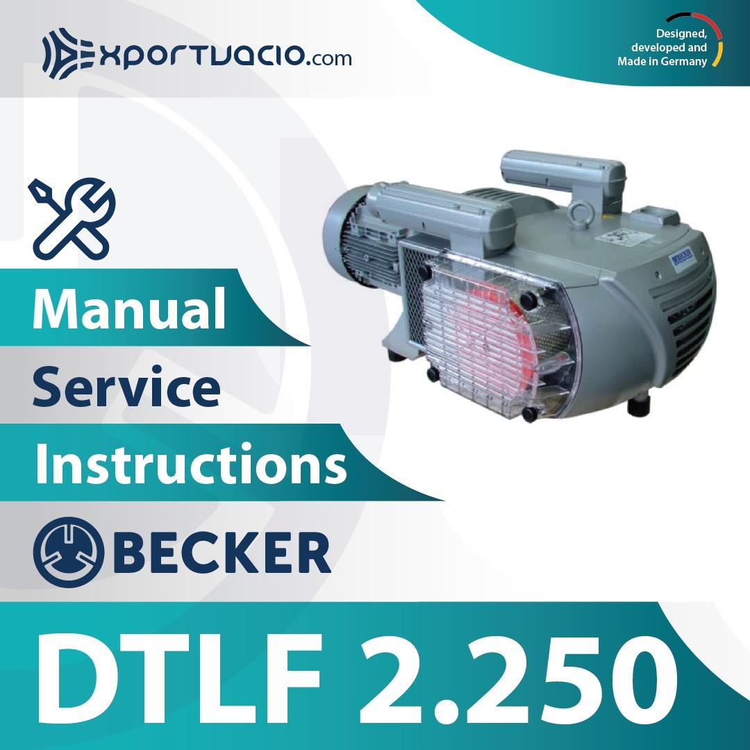 Becker DTLF 2.250 Manual