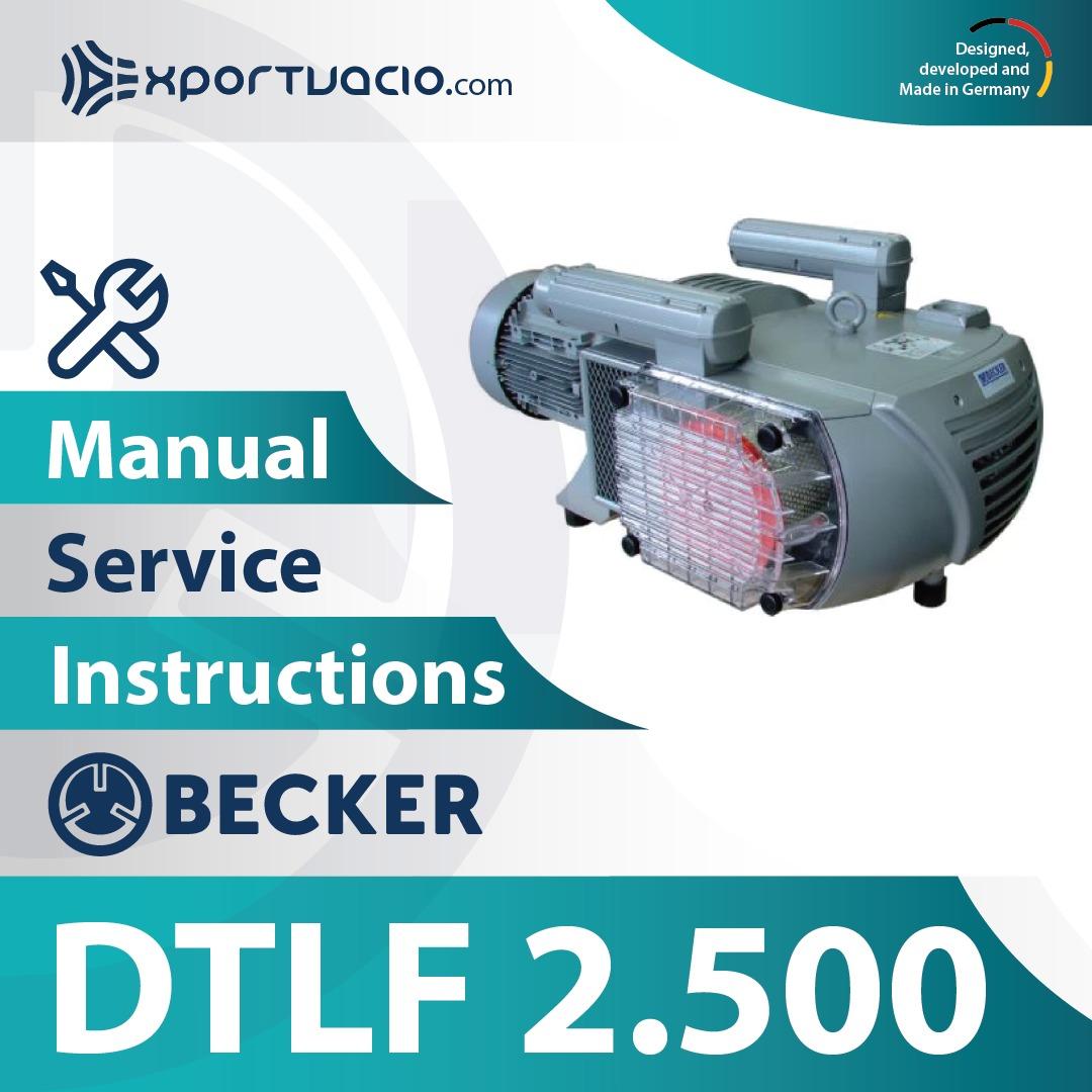 Becker DTLF 2.500 Manual