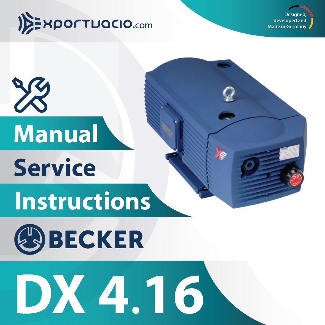 Becker DX 4.16 Manual