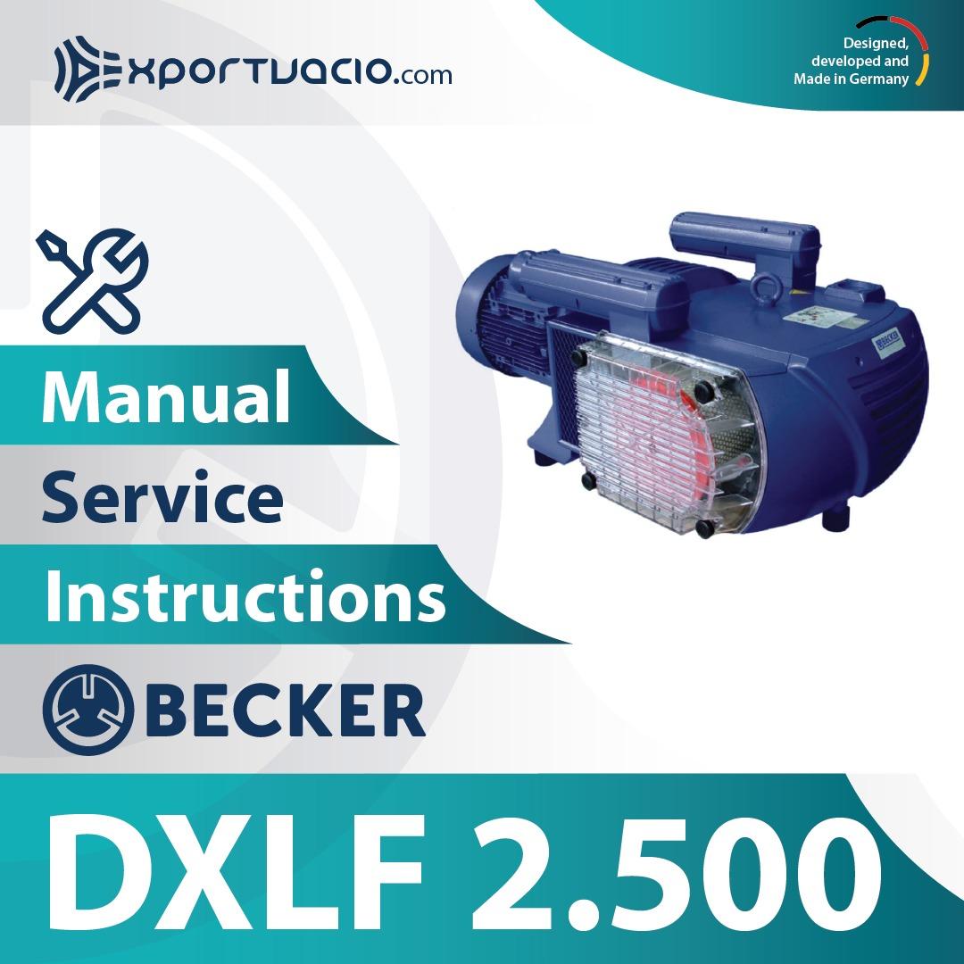 Becker DXLF 2.500 Manual