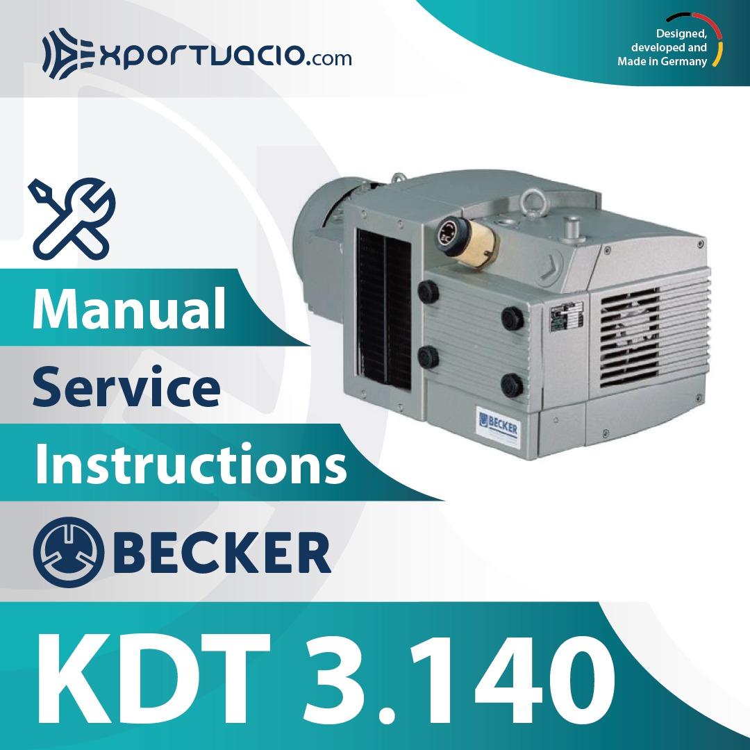 Becker KDT 3.140 Manual