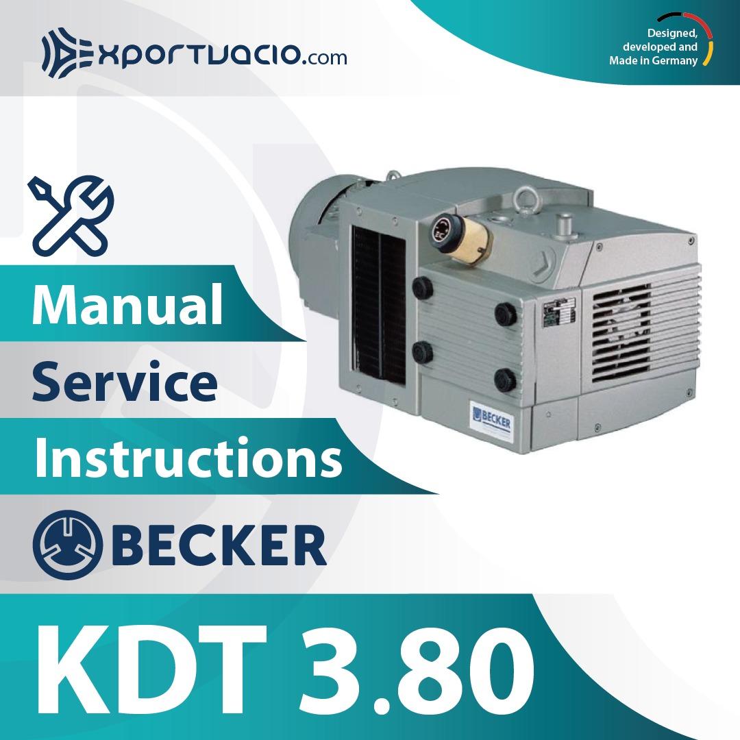 Becker KDT 3.80 Manual
