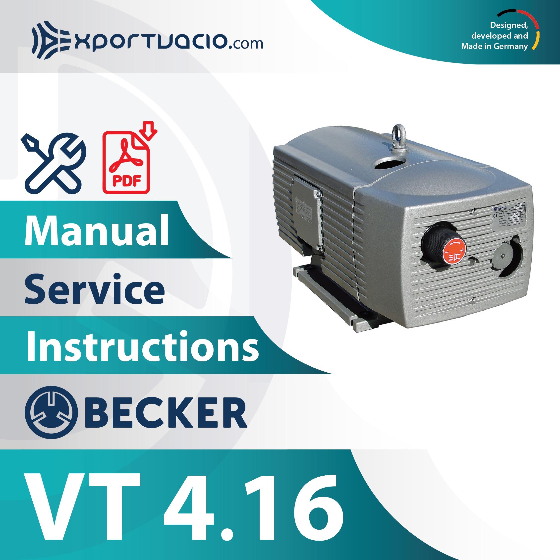 Becker VT 4.16 Manual