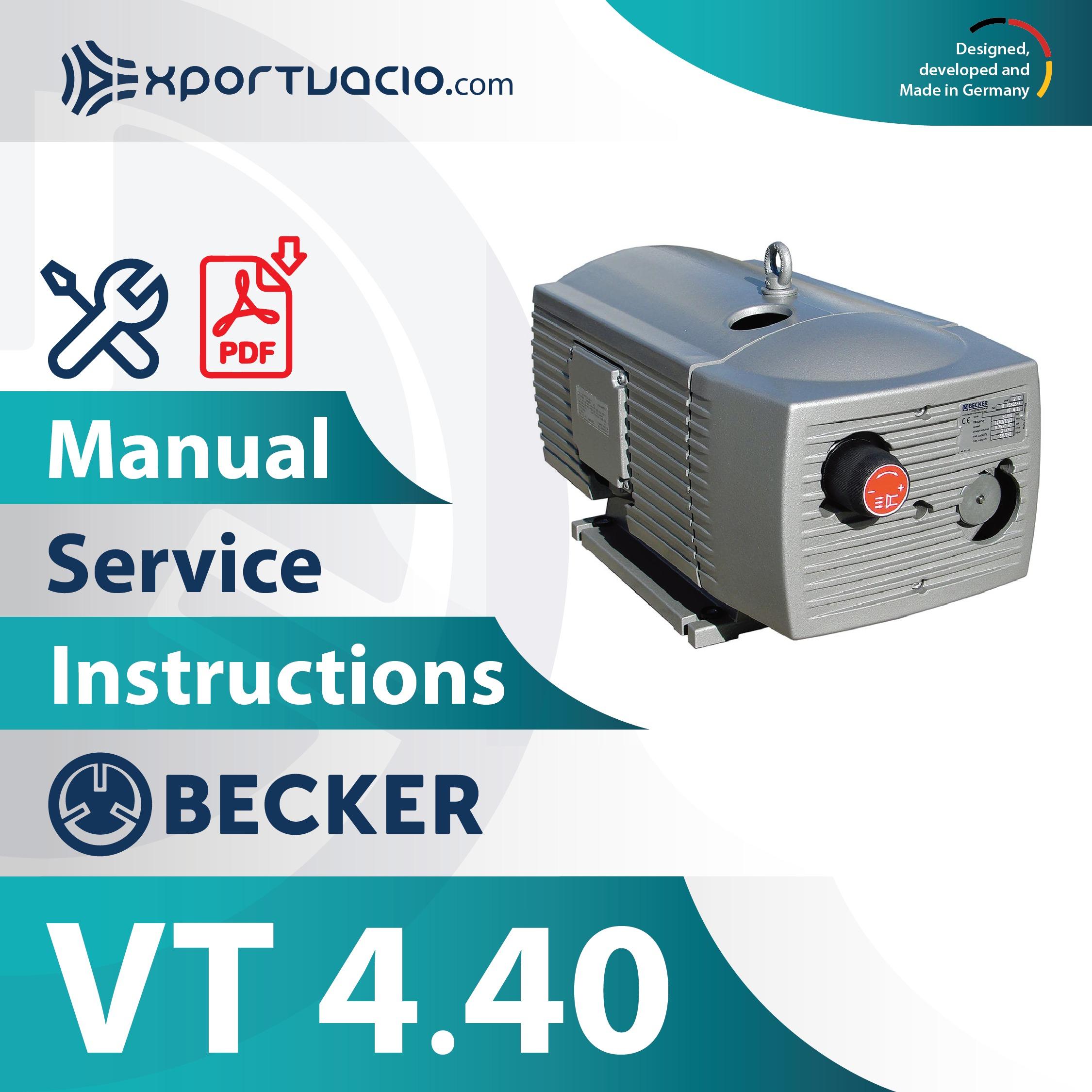 Becker VT 4.40 Manual