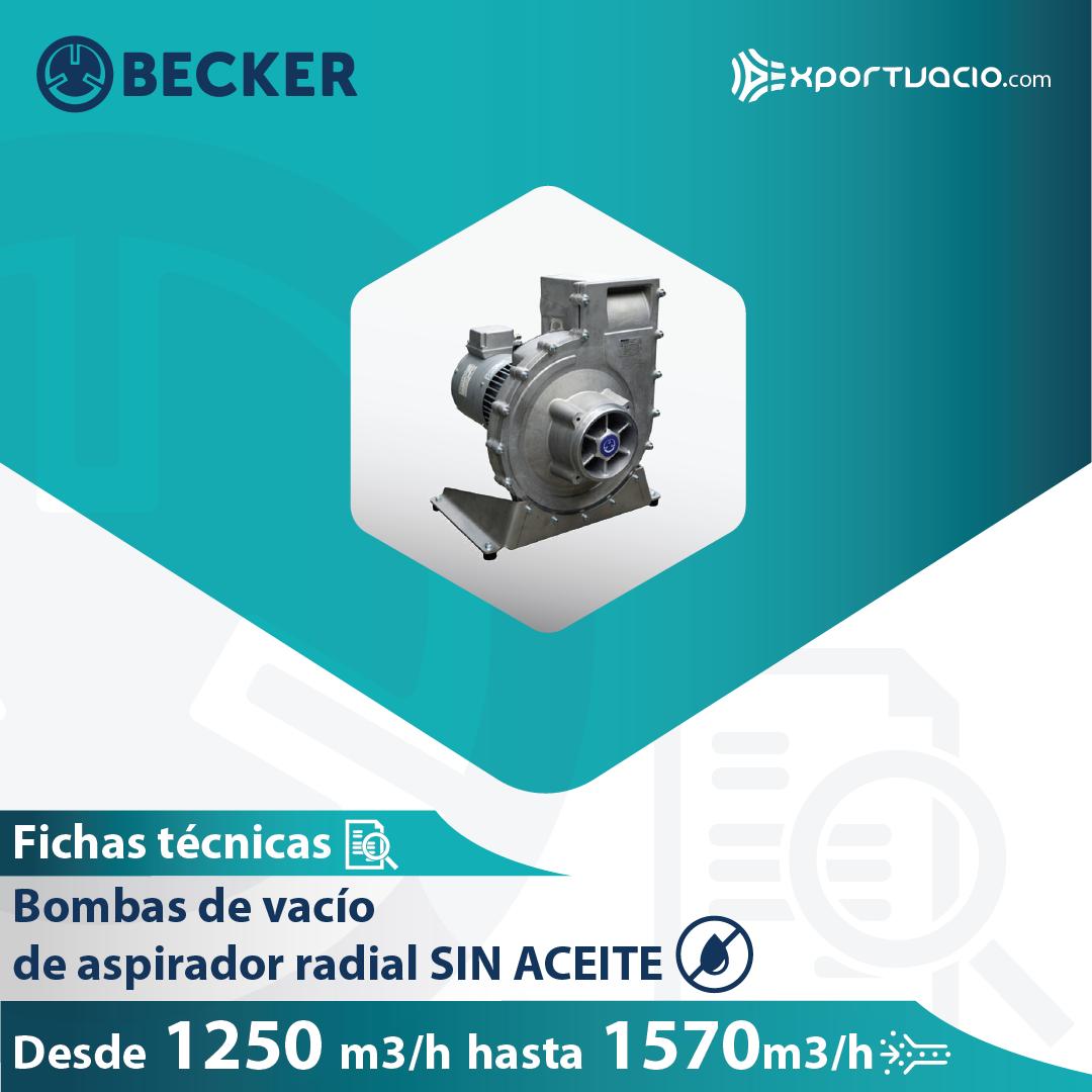 Bomba de vacío Becker aspirador radial