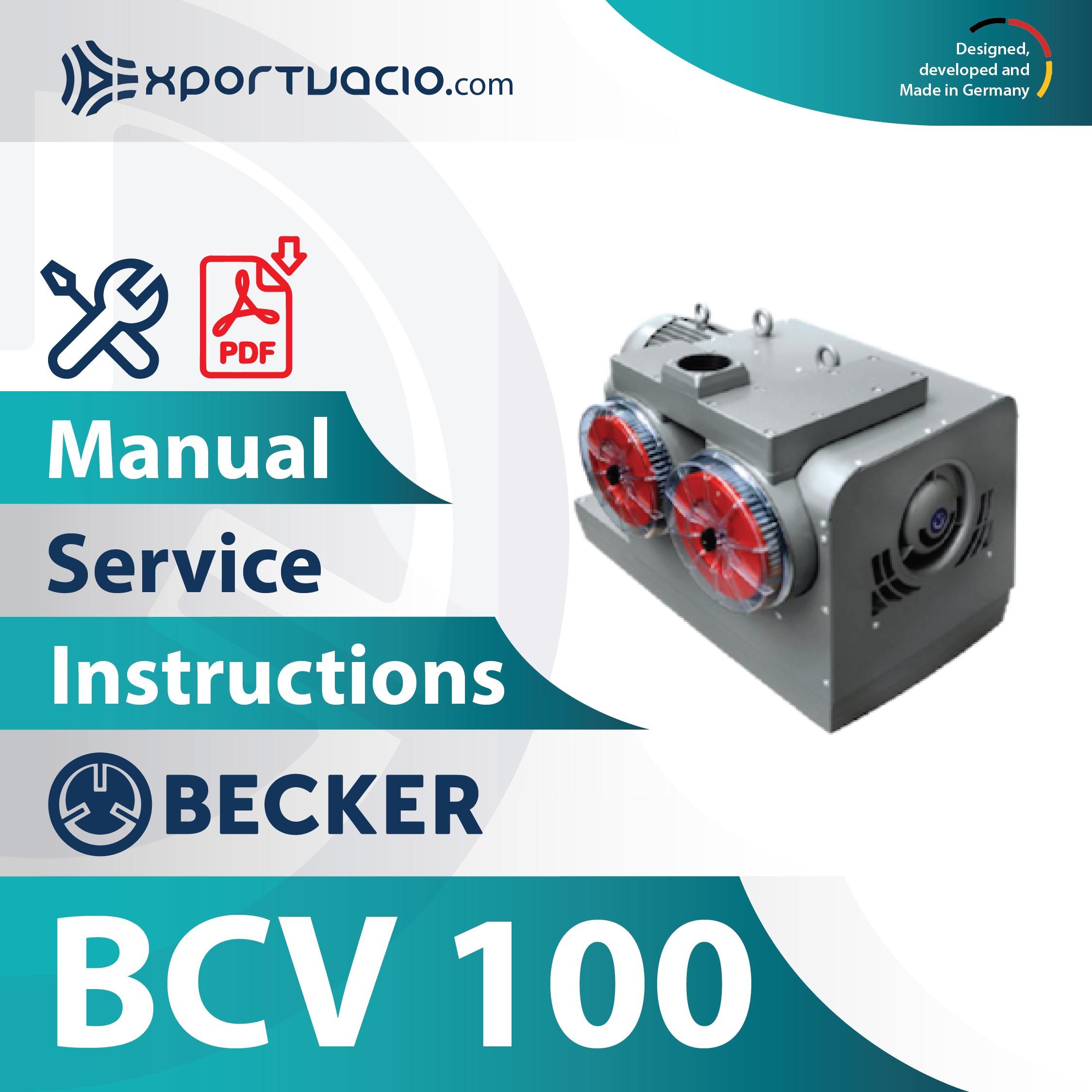Mantenimiento para bomba de garras Becker BCV 100