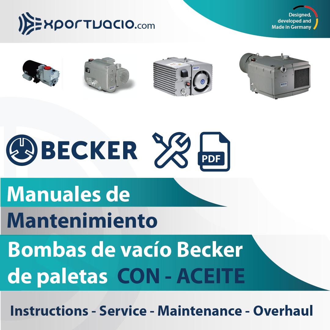 Manuales de mantenimiento bombas de vacío Becker de paletas con aceite