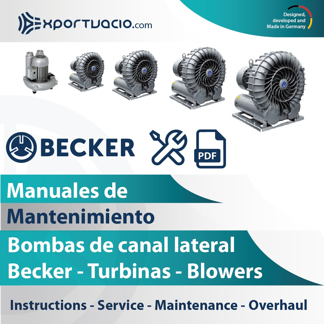 Manuales de mantenimiento de bombas de canal lateral turbinas BECKER Blower