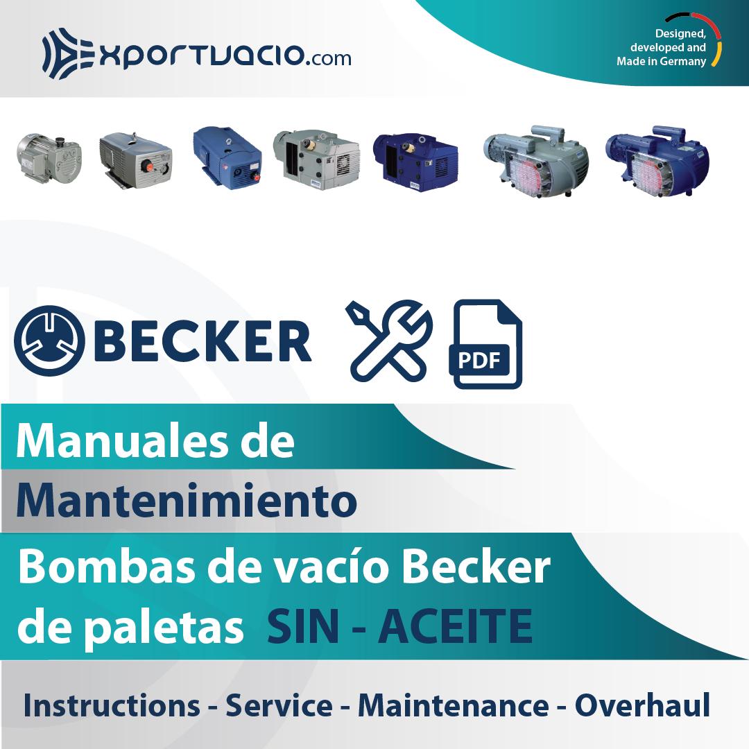 Manuales de mantenimiento de bombas de vacío Becker sin aceite