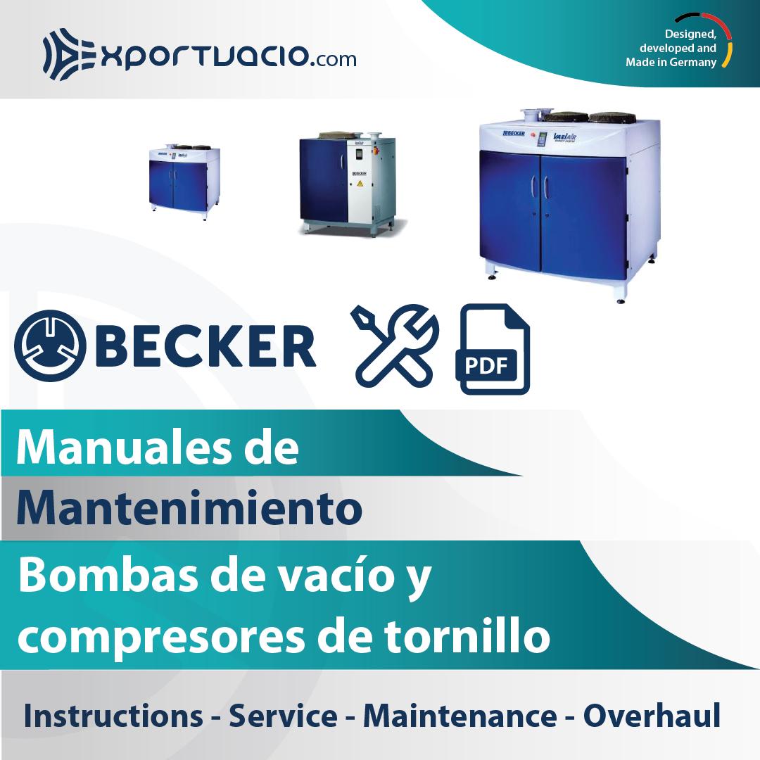 Manuales de mantenimiento de bombas de vacío y compresores de tornillo
