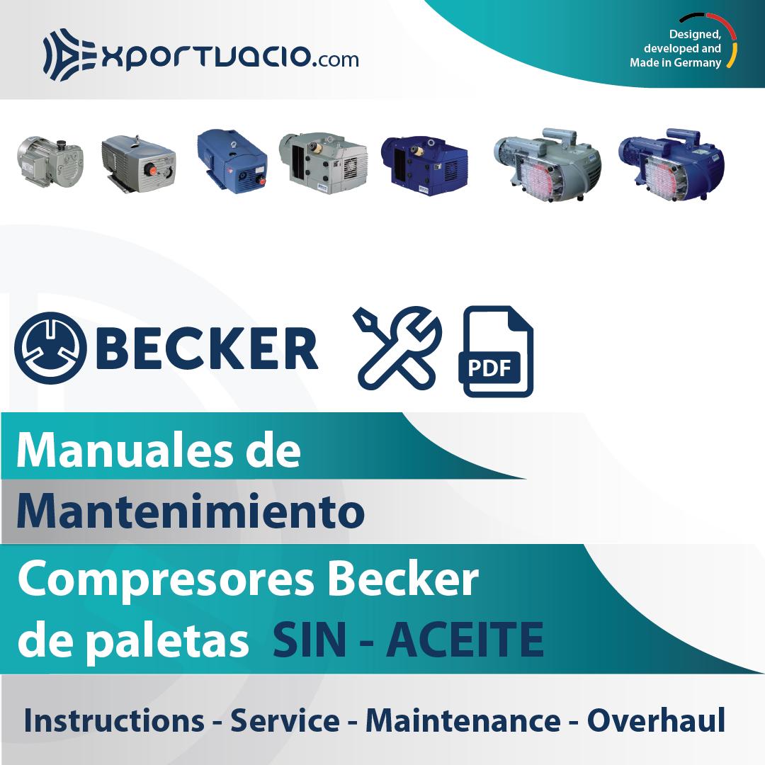 Manuales de mantenimiento de compresores Becker sin aceite